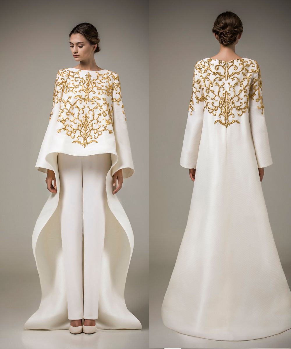 white and gold evening gowns - Google Search | Wedding dresses ...