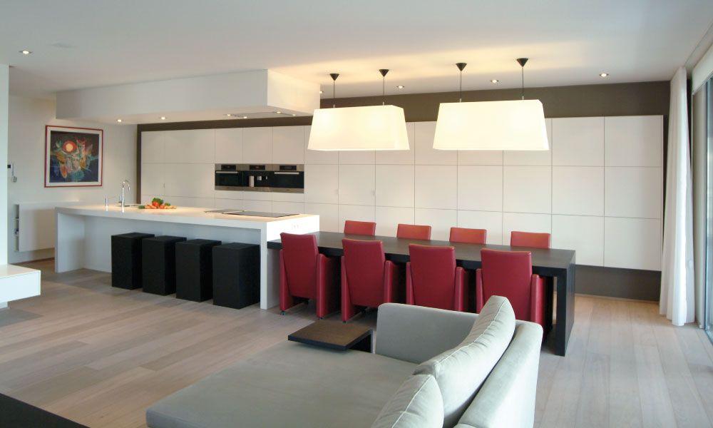 Keukeneiland eettafel kastenwand cf plan keuken pinterest - Modern keukenplan ...