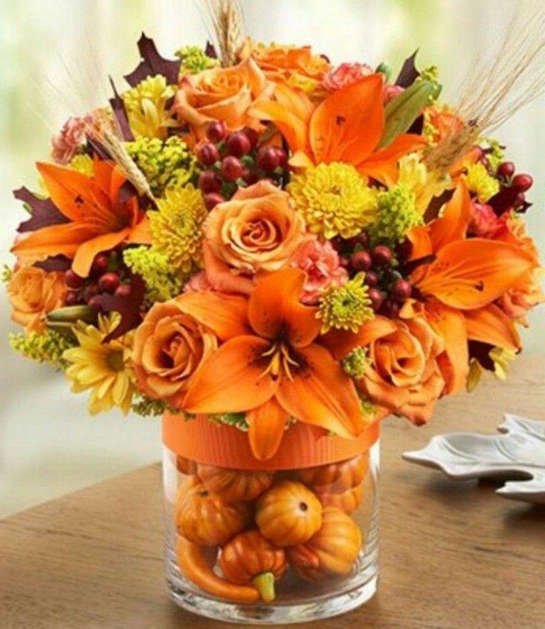 40 Pretty Fall Flower Arrangements Ideas That You Can Make It Self