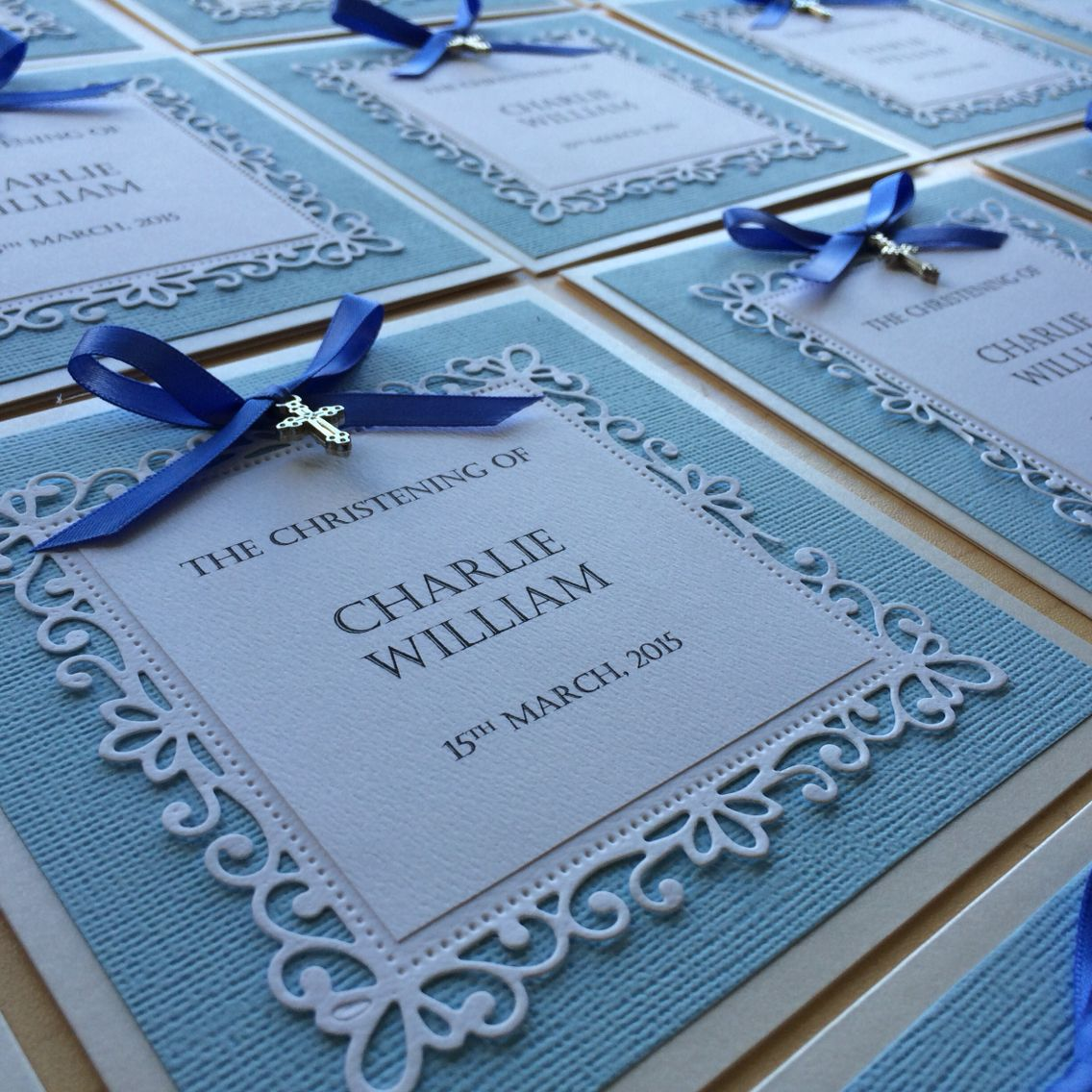 Amaura Designs Handmade Christening Invitations Christening Invitations Boy Christening Cards Christening Invitations