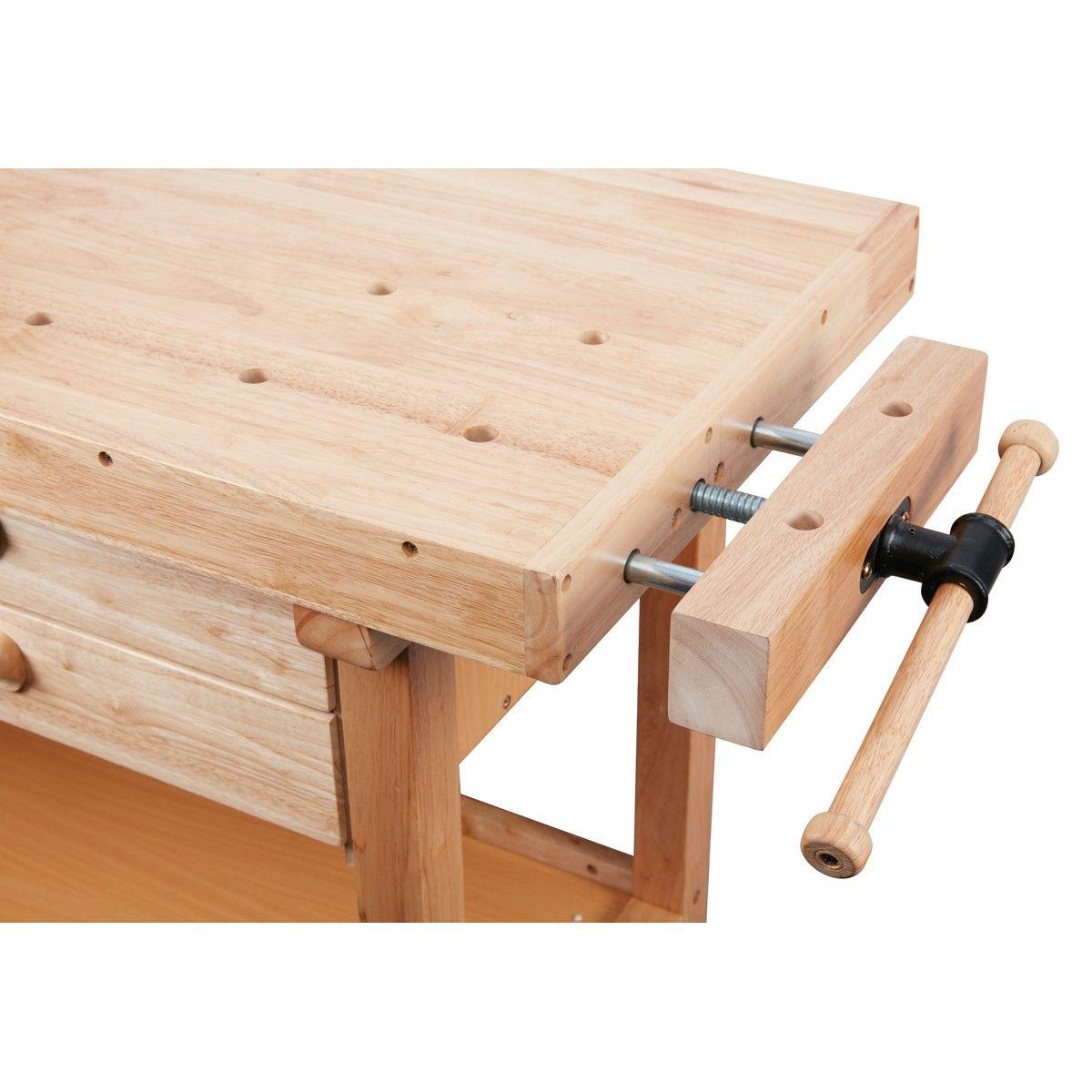 60 In 4 Drawer Hardwood Workbench Woodworking Workbench Diy Workbench Workbench Designs