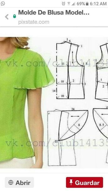 Camisas De Mujer Con Patrones O Moldes Para Imprimir Si Er Dress Sewing Patterns Fashion Sewing Pattern Sewing Sleeves
