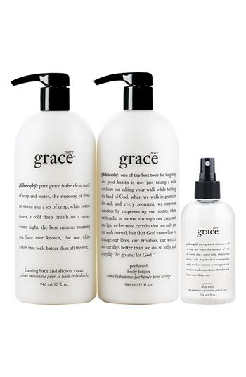 Philosophy Pure Grace 3 Piece Super Set Nordstrom Exclusive Usd 137 Value Nordstrom Pure Products Philosophy Beauty Product Junkie