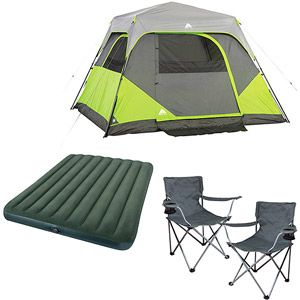 Walmart Ozark Trail 4 Person Instant Dome Tent With Sit And Sleep Solutions For Two Valune Bundle Tent 6 Person Tent Dome Tent