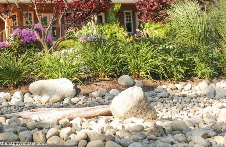 Landscaping with River Rock & Dry River Rock Garden Ideas | The Happy Housie,  #Dry #Garden #... #riverrockgardens Landscaping with River Rock & Dry River Rock Garden Ideas | The Happy Housie,  #Dry #Garden #Happy #Homelandscapingwithrocks #Housie #ideas #Landscaping #River #Rock #riverrockgardens