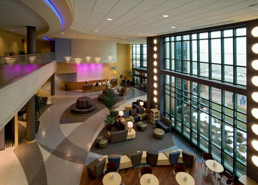View Into Lobby From Second Floor Mezzanine Of The Sycamore Medical Center