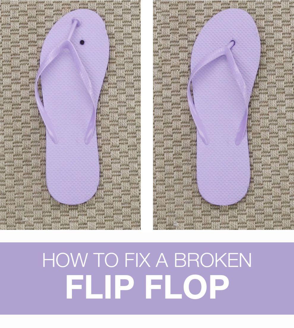 445ef3026aef Fix A Broken Flip Flop With These Easy Repair Hacks | hacks | Fix ...