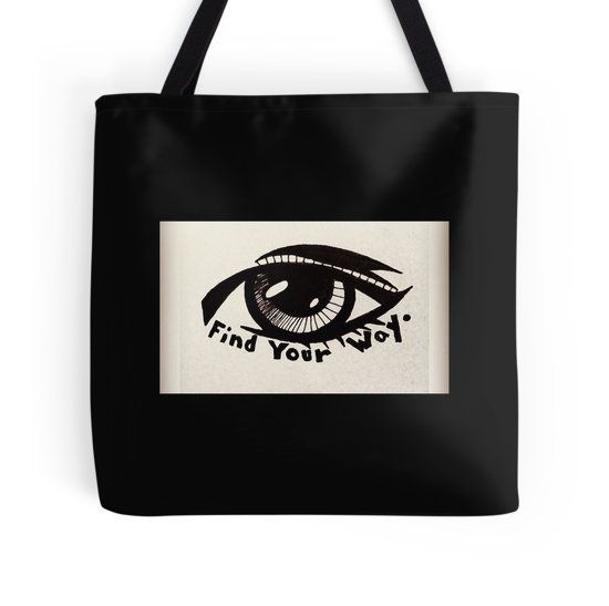 Find Your Way (Eye) by Anne Marie Price.  www.AnneMariePrice.com  #AnneMariePrice #drawing #eye #gift #totebag #home