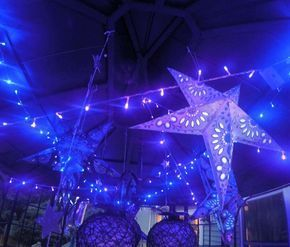 Galactic space Galaxy party decorations | CatchMyParty.com #Decorations #galactic #Galaxy #Party #Space