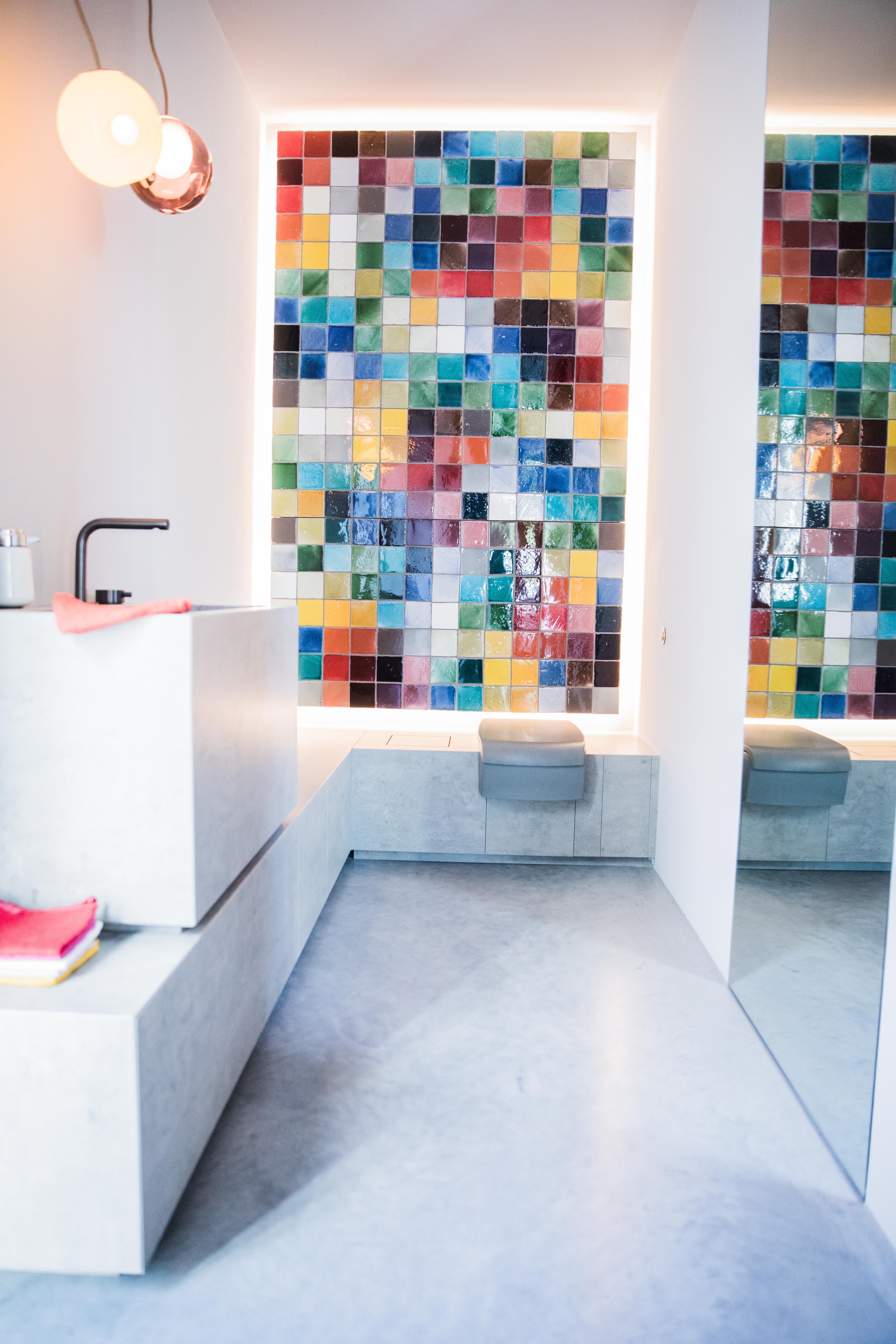 badezimmer mit designboden in 2019  badezimmer