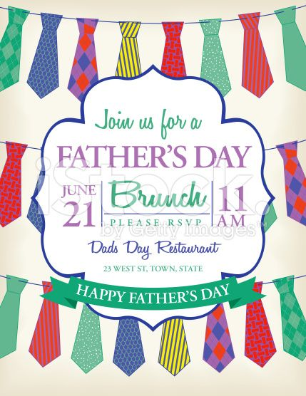 Mens ties template for Fatheru0027s Day event Fatheru0027s Day brunch - Lunch Invitation Templates