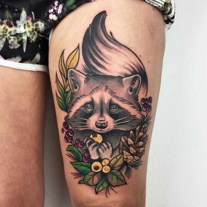 fetisch tattoo :) | 01-tattoo | Tattoos, Raccoon tattoo ...