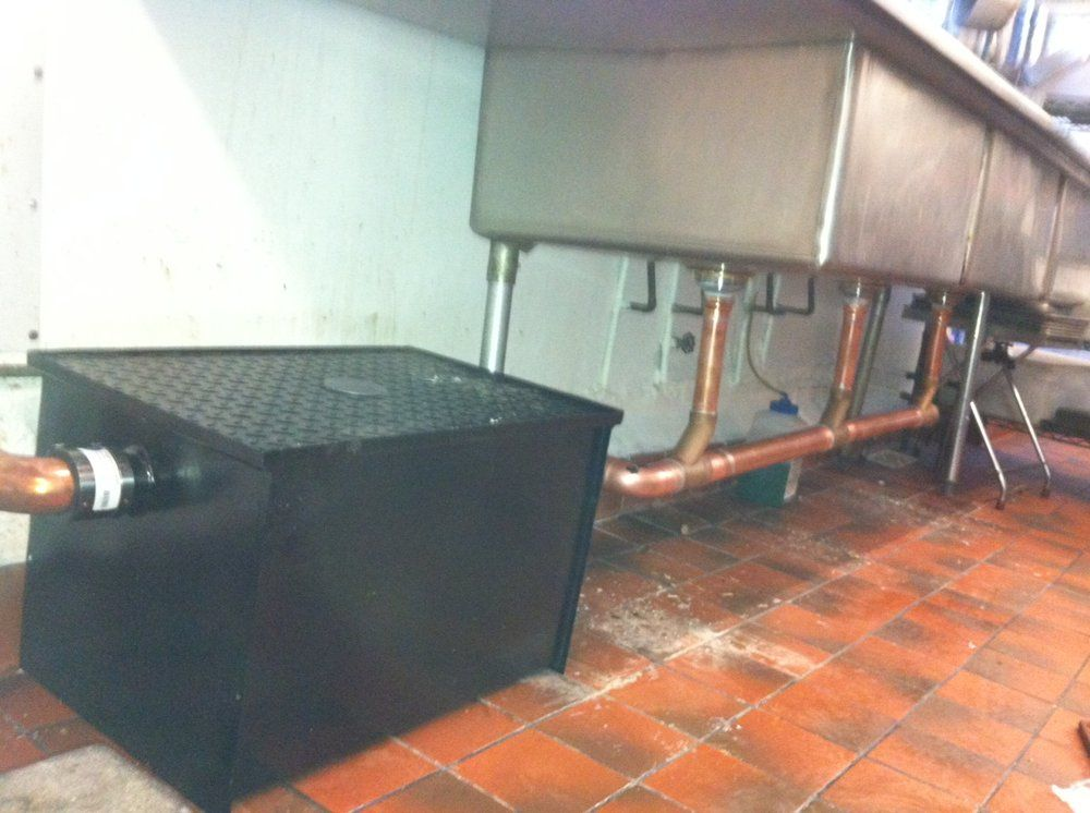Grease trap plumbing pinterest engine and searching for Kitchen p trap installation