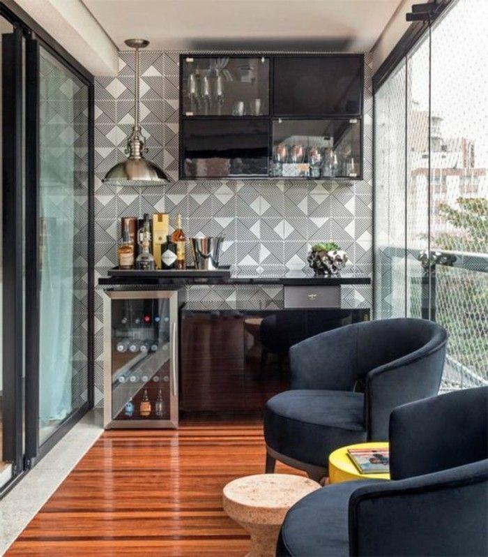 Terrassengestaltung Ideen Boden Aus Holz Sessel Lampe Schrank Pflanze Runder Tisch Hausbar Hausbar Designs Balkon Ideen