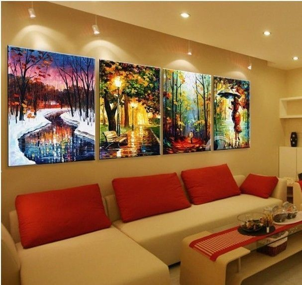 4 P Large Canvas Painting Contemporary Wall Art Decor( No Frame )