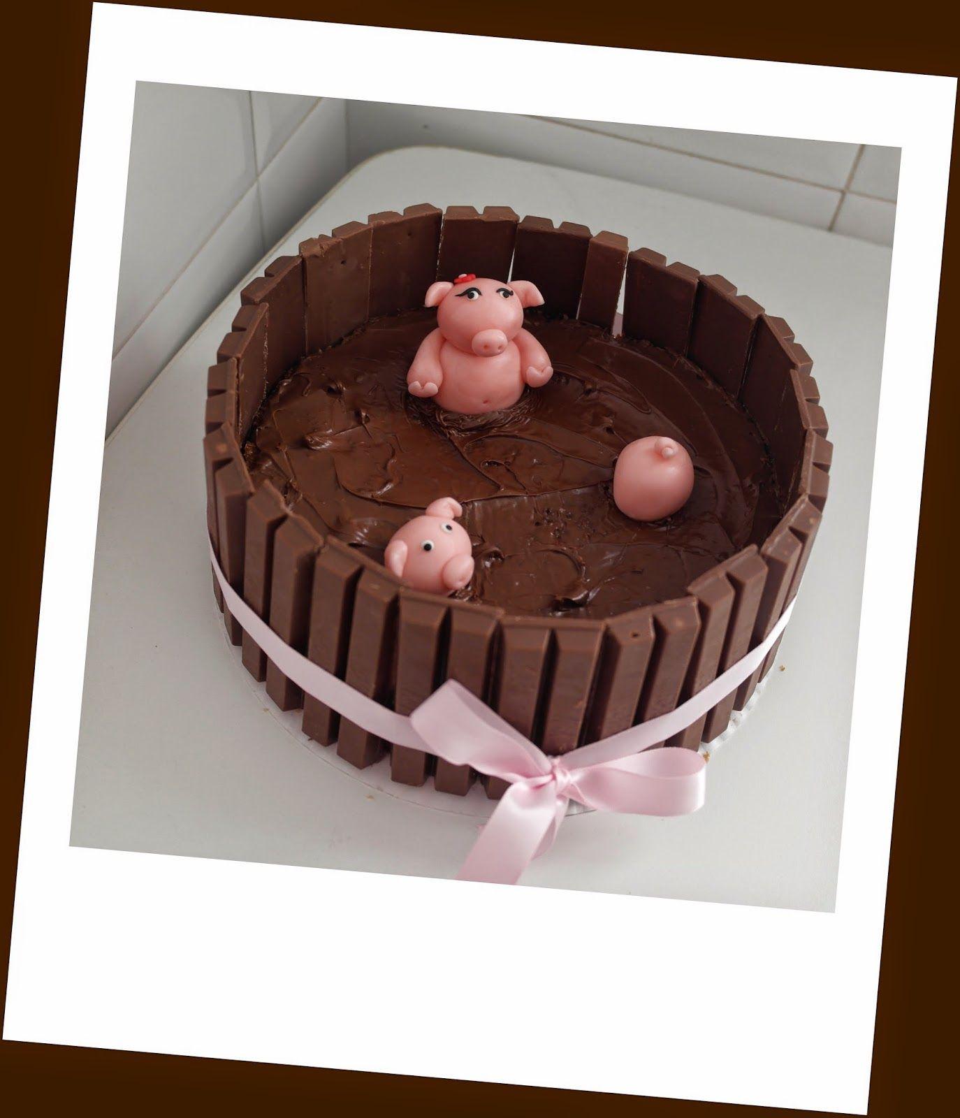 Cake Sisters Pastel Cerditos Kit Kat Pastel Postres Cerditos