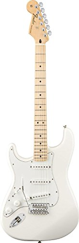 Fender Standard Stratocaster Electric Guitar - Left Handed - Maple Fingerboard, Arctic White * You can get more details by clicking on the image.