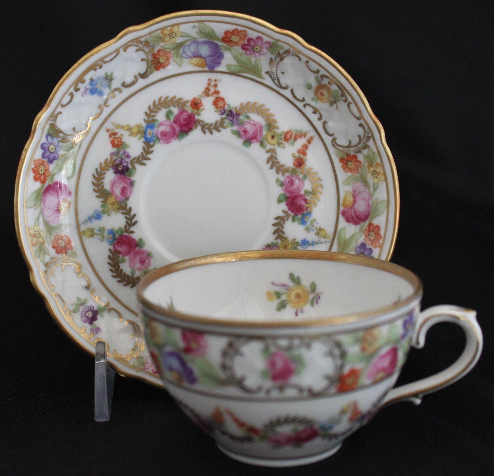 Royal albert bone china tea cup amp saucer winsome pattern ebay - Empress Dresden Flowers Variation Aka Sch2 By Schumann Germany Demi Cup Saucer