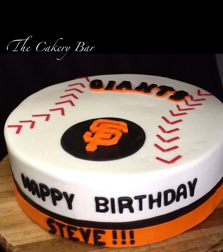 A San Francisco Giants Fans Birthday Cake The Cakery Bar