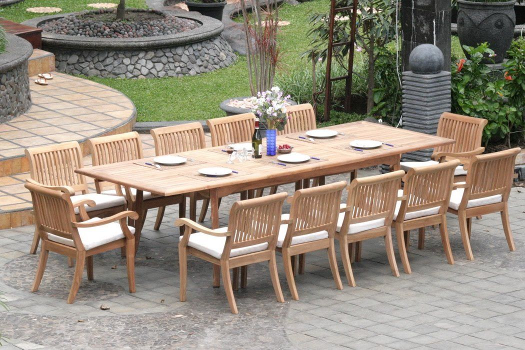 If You Re Thinking Of Buying A New Teak Patio Table For Your Backyard One Of The Biggest Teak Patio Table Patio Furniture Dining Set Outdoor Dining Furniture