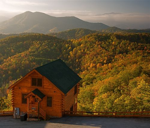 One Bedroom Cabins In Pigeon Forge: Cades Cove Vista Lodge Cabin Rental Near Pigeon Forge