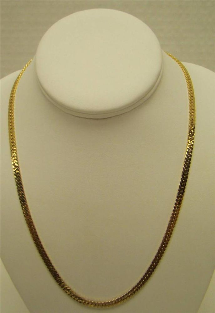 14K YELLOW Gold Filled over Solid Silver ROLO Chain Necklace-Pendant Chain