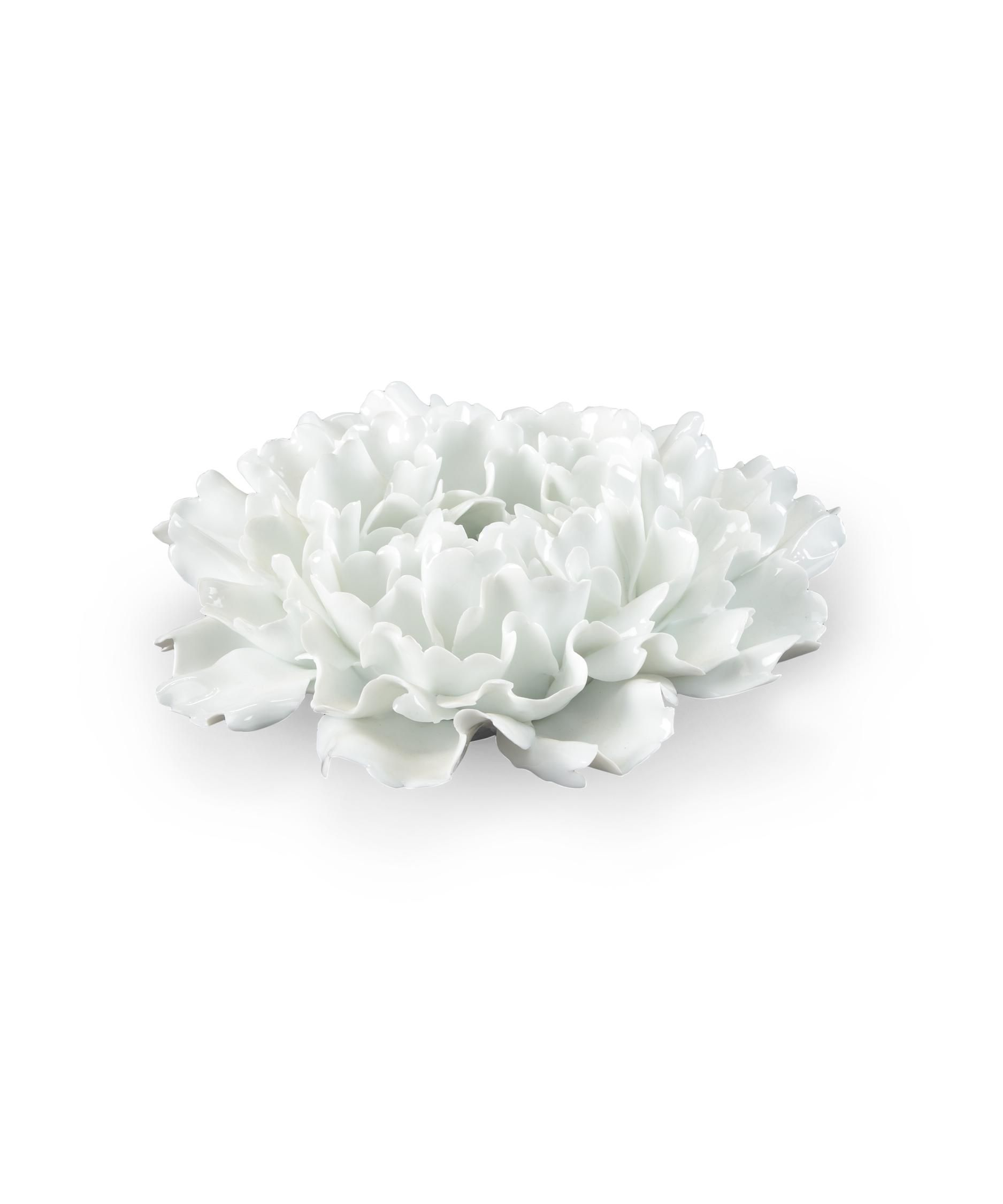 Small Lotus Flower 8 Other Table Accent In White Glaze Other Table
