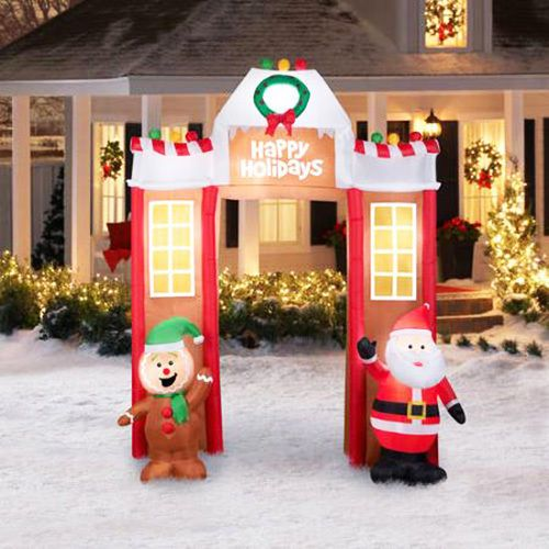 Santa Claus Inflatable Christmas Decorations Yard Lights Holidays - inflatable outdoor christmas decorations