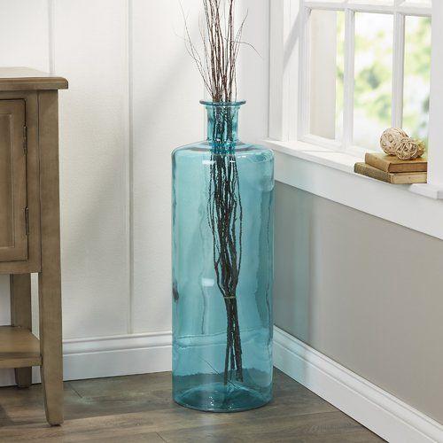 Found It At Wayfair Saida Large Vase Glass Floor Vase Large Floor Vase Floor Vase