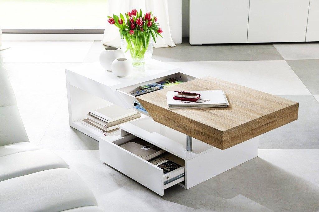 Redoutable Table Basse Bois Et Blanc Laque Avec Images Table Basse Meuble Tv Et Table Basse