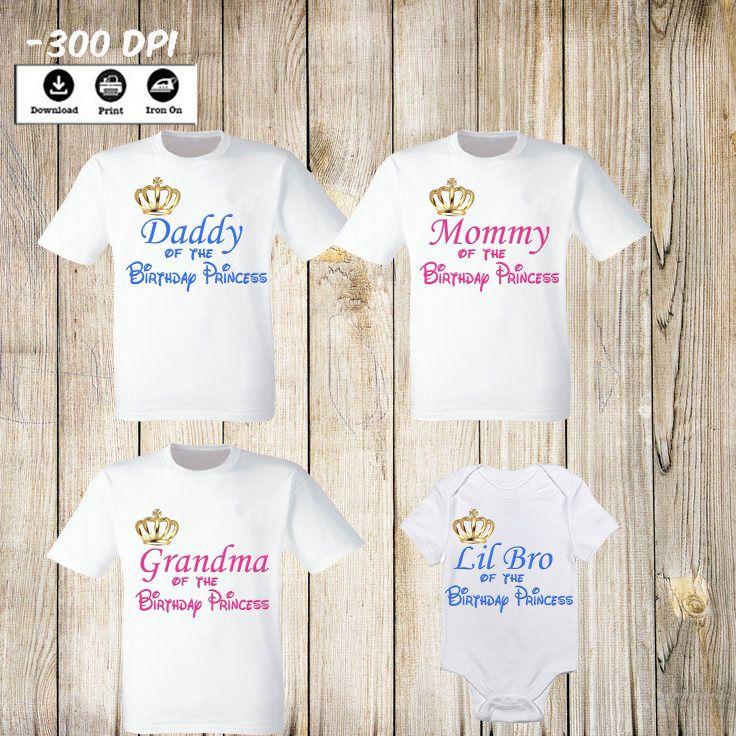 Choose image and size Disney Princesses iron on T shirt transfer