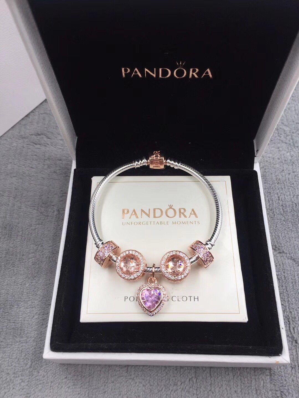 Pandora rose gold bracelet pcs charms bracelets pinterest
