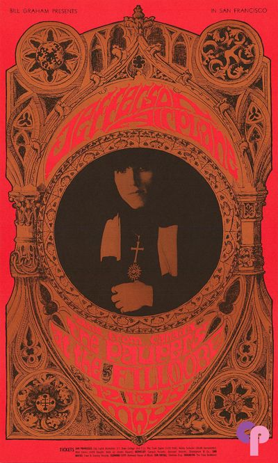 Classic Poster - Jefferson Airplane at Fillmore Auditorium 5/12-14/67 by Bonnie MacLean & Herb Greene