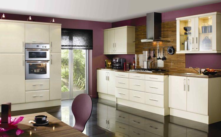 Elegant #Dekoration Farbe Für Küche U2013 Küchenwand In Kontrastfarbe Streichen #Farbe  #für #Küche