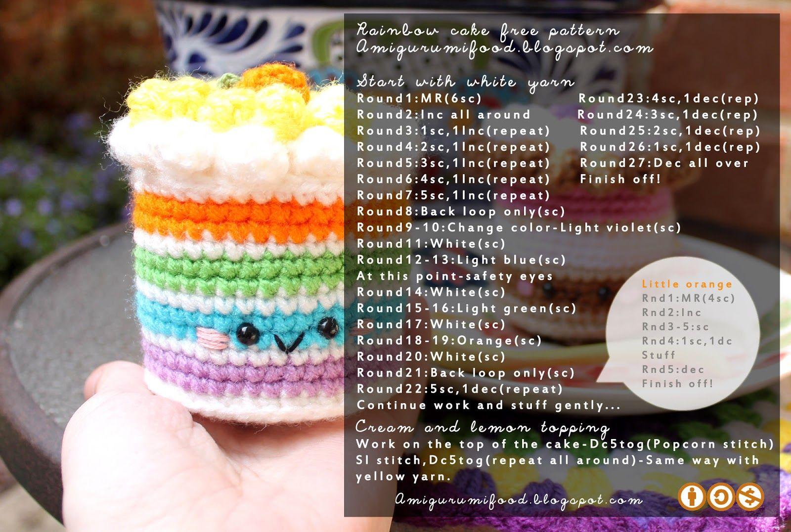 Amigurumi Food: Rainbow & Neapolitan Cake Free pattern!