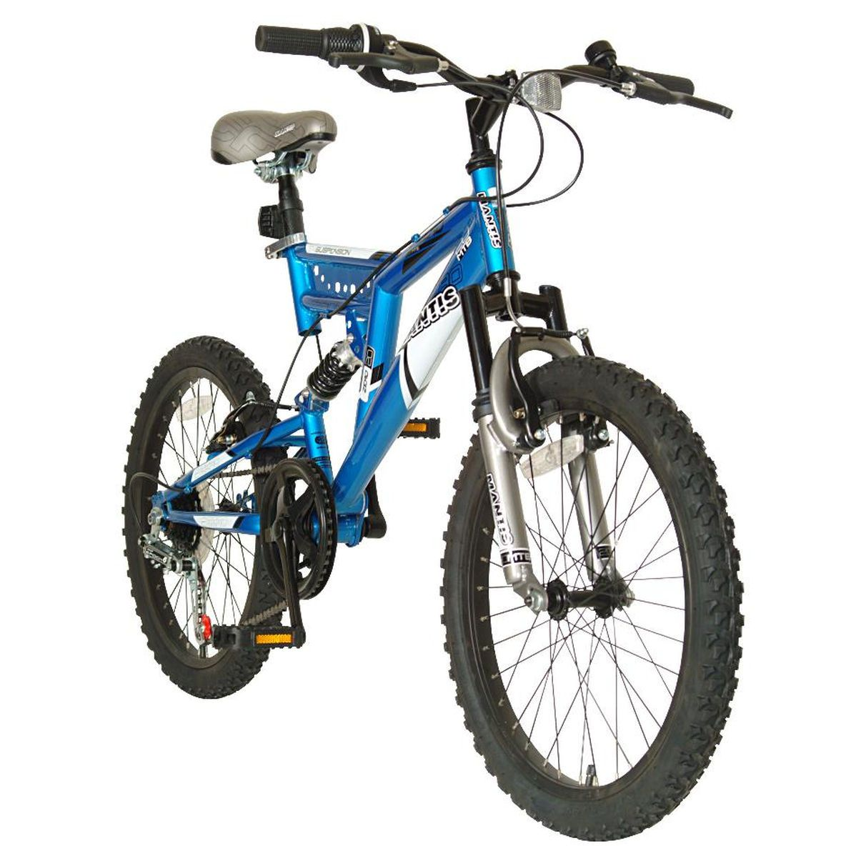 Boys 20 Inch Mantis Zero Full Suspension Mountain Bike Blue