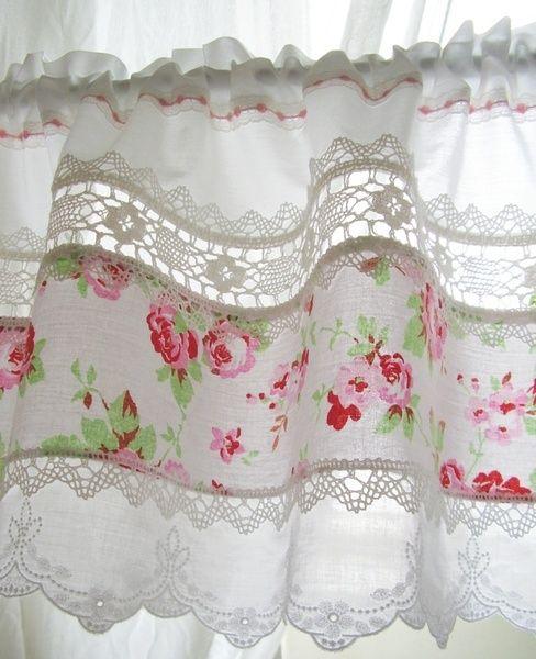 breezy rose curtains shabby chic decoratie landelijke gordijnen keuken valletjes gehaakte gordijnen
