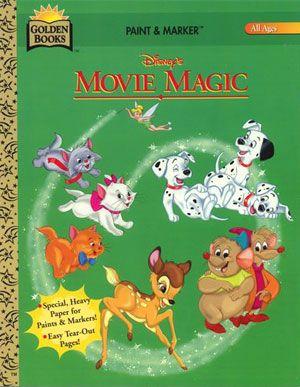 Disney Movie Magic Coloring Book Golden Books 1996