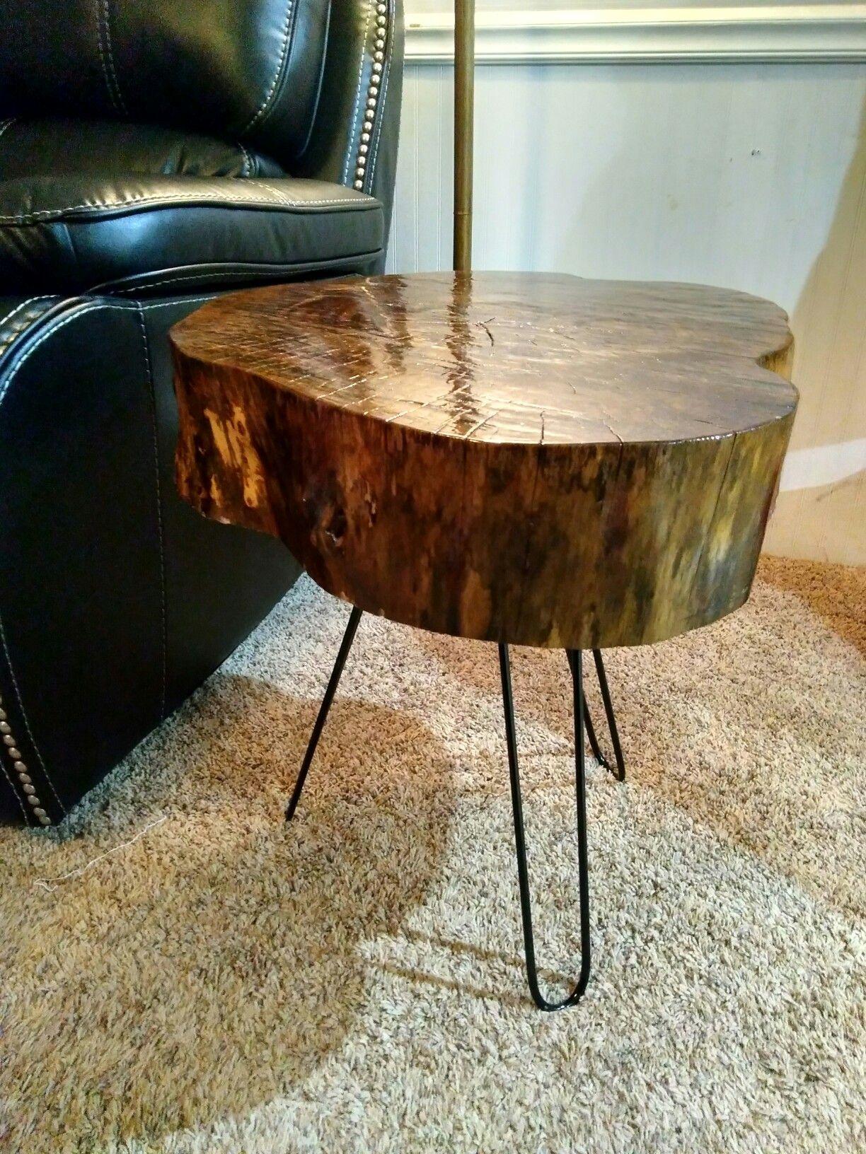 Beau Live Edge Wood Slab End Tables