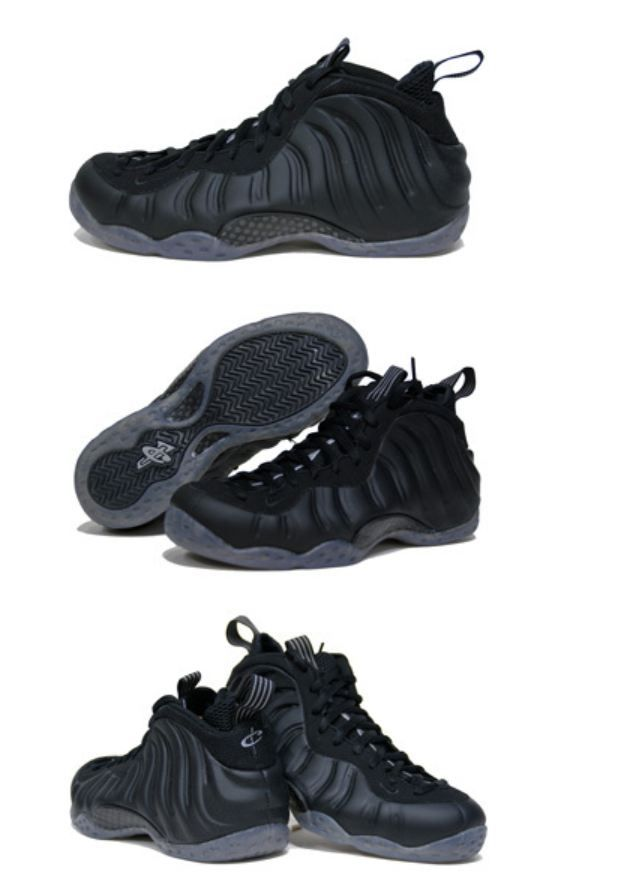 sports shoes fca93 e76dc Nike Foamposite Stealth- ugly shoe that looks kinda dope in black.