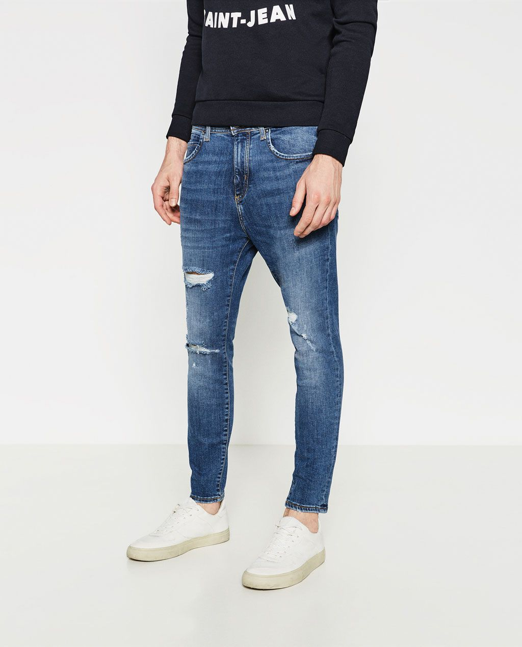Zara Man Jeans White Denim Men Pant Zara Basic Collection