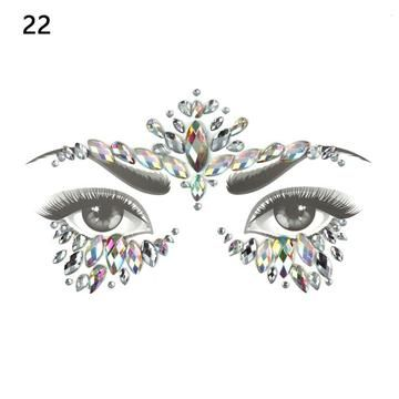 Glitter Face Jewels Temporary Tattoo Sticker Body Gems Gypsy Festival  Adornment Party Face Decoration Tattoo Beauty 121bb8ca4198