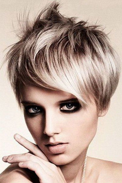 Layered punk hairstyles for short pixie