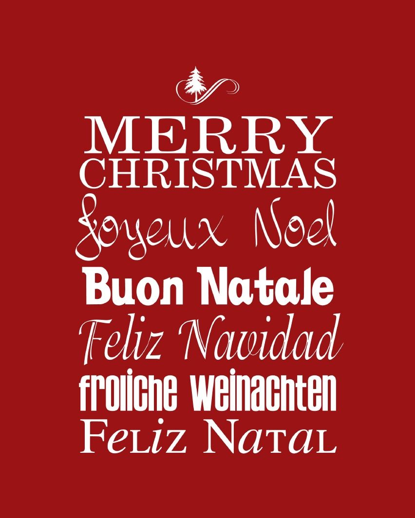 Merry christmas around the world english french italian merry christmas around the world english french italian spanish portuguese and german m4hsunfo