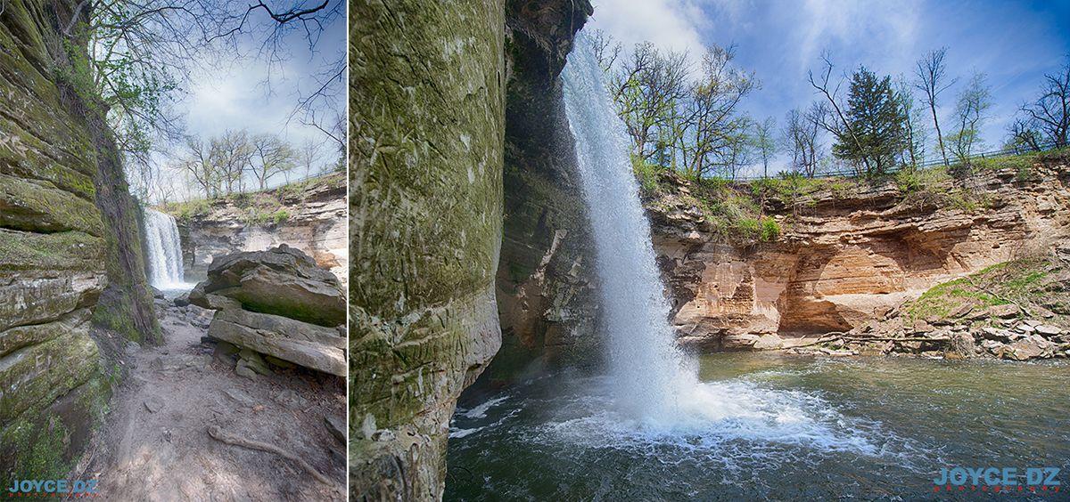 Lower Minneopa Falls, Mankato, Minnesota, MNStateParks, ExploreMN
