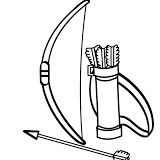 Indian Bow Picture Coloring Pages Arrow Drawing Super Coloring