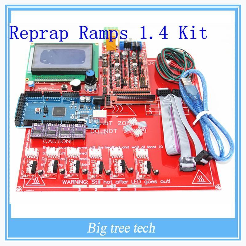 Visit to Buy] Reprap Ramps 1 4 kit + Mega 2560 + Heatbed mk2b +