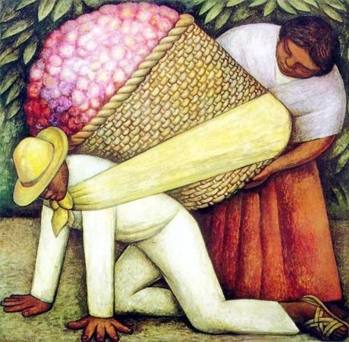Diego rivera the flower carrier painting compositions for Diego rivera mural paintings
