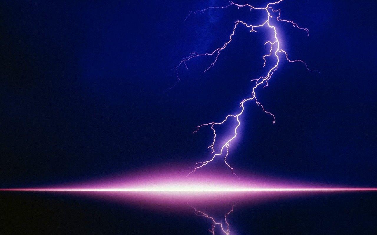 Pink Lightning Storm
