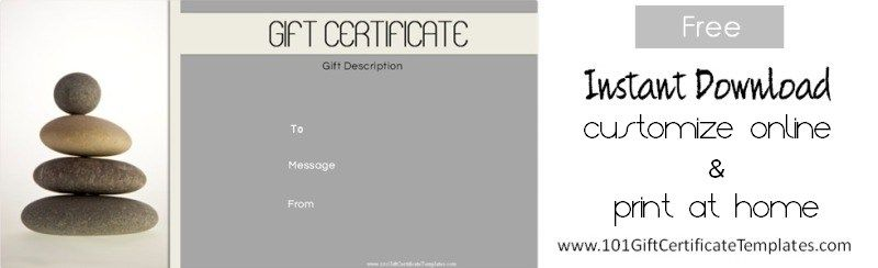 Spa Gift Certificates 101 Certificate Templates